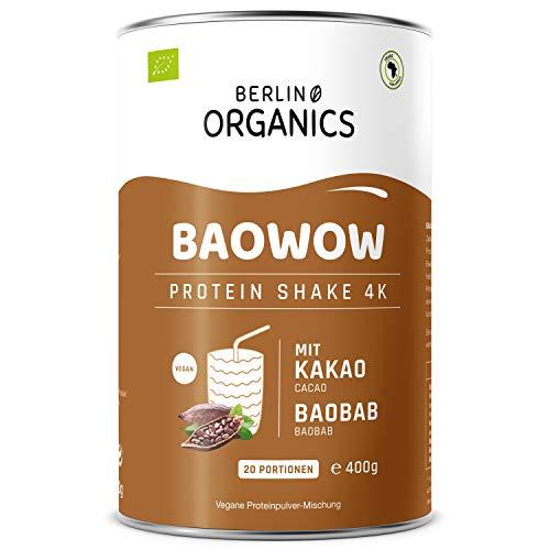 Protein Vegan - Berlin Organics - Baowow Protein-Pulver Schoko - 100% Bio Protein Shake aus veganen Proteinen - Mehrkomponentenprotein
